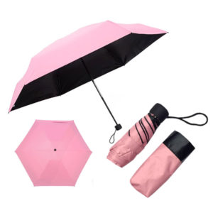 Pink and Black Umbrella