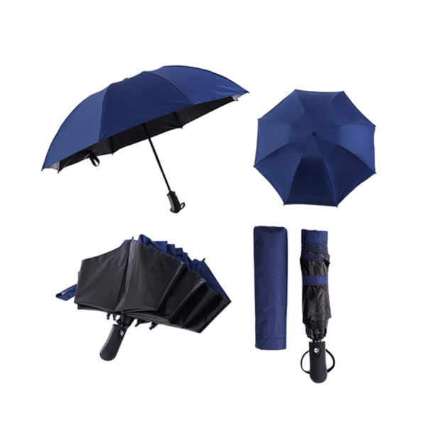 Blue and Black Umbrella